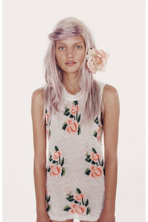peach Wildfox dress - light pink accessories
