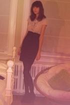 H&M dress - simons tights - Zara