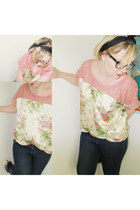 my own design Plagg by Charlotta blouse - dark blue GINA TRICOT jeans