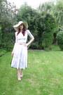 Camel-wide-brimmed-primark-hat-eggshell-handmade-skirt