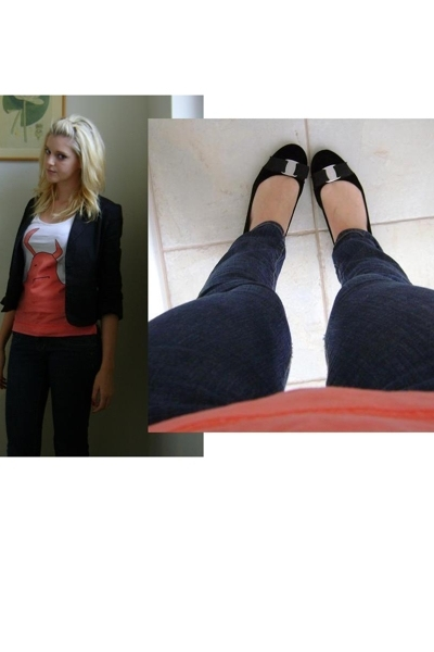 See by Chloe top - Bettina Liano jacket - Just jeans jeans - Salvatore Ferragamo