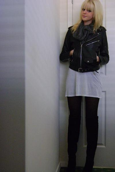 Ebay jacket - t by alexander wang dress - unknown scarf - Urban Soul shoes