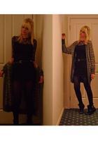 vintage dress - m missoni sweater - Salvatore Ferragamo belt - Topshop shoes