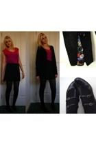 Luella sweater - aa top - vintage skirt - diva accessories - Midas shoes