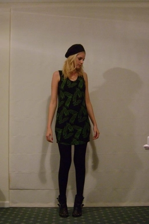 Jimmy D dress - Sportsgirl hat - Topshop shoes