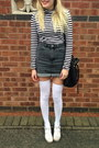 Black-bucket-zara-bag-white-thigh-high-american-apparel-socks