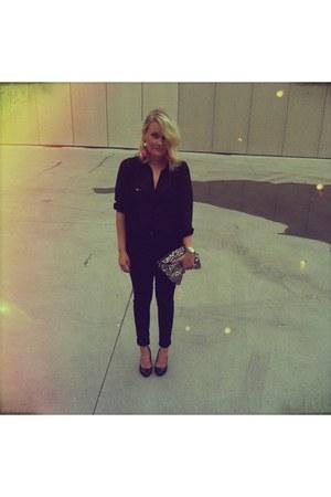 purse - earrings - heels