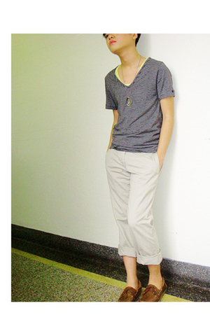 American Apparel shirt - H&M shirt - Gap pants - Payless Shoesource shoes - neck