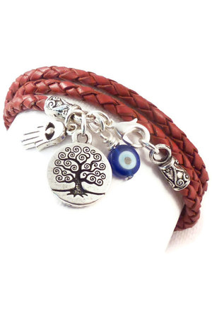 ruby red charmed design 1012 bracelet