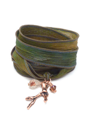 silk wrap charmed design bracelet
