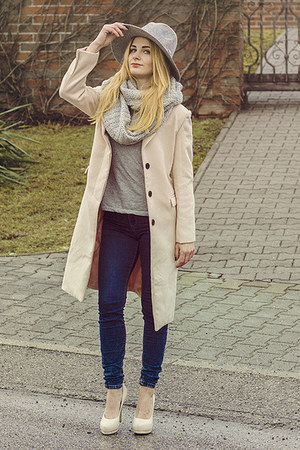 light pink romwe coat