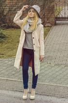 light pink romwe coat