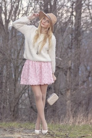 bubble gum romwe skirt