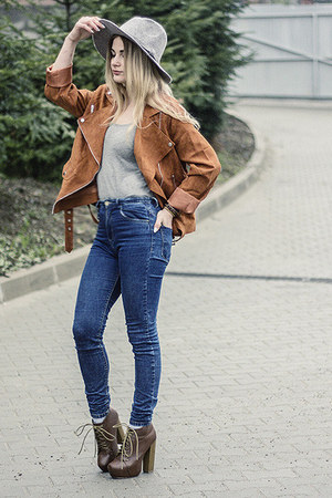dark brown Sheinside jacket