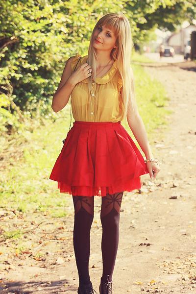 red VANCL skirt