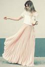 Pink-sheinside-skirt