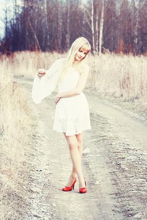 white Topshop dress