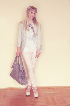 ivory Orsay blouse