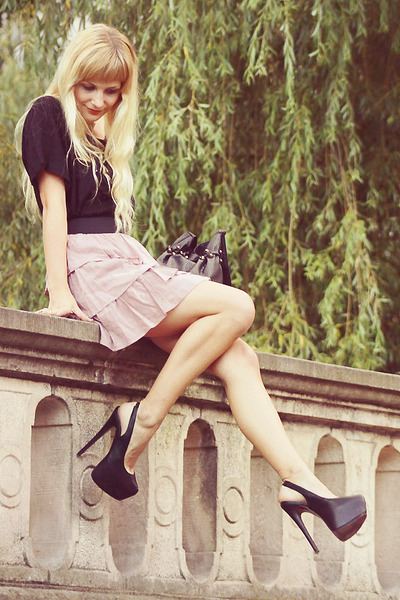 light purple Zara skirt