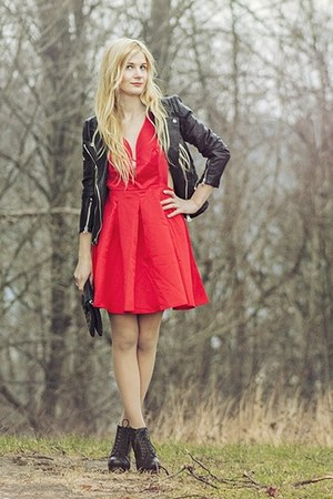 red Sheinside dress