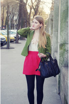 Zara blazer - Zara bag - Zara skirt - Primark top