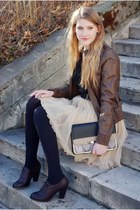 Bershka jacket - Stradivarius bag