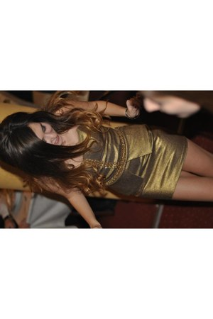 gold gold denim own design dress