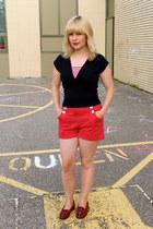 red cotton Tara Starlet shorts - navy Rocket Originals shirt