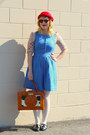 Sky-blue-pinafore-jcrew-dress-ruby-red-wool-h-m-hat