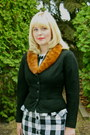 Black-gingham-peplum-vintage-dress-ivory-leather-vintage-bag