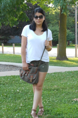 Target bag - banana republic shorts - Michael Kors sunglasses