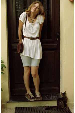 vintage necklace - Old Jennyfer Collection dress - vintage belt - vintage purse
