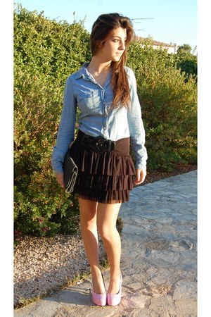 Bershka skirt - Stradivarius bag - Stradivarius blouse