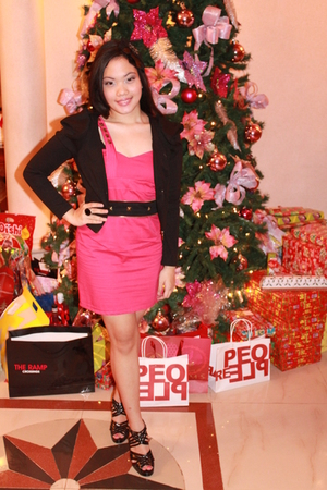 ilaya shoes - Cosmopolitan dress - Pink Manila jacket