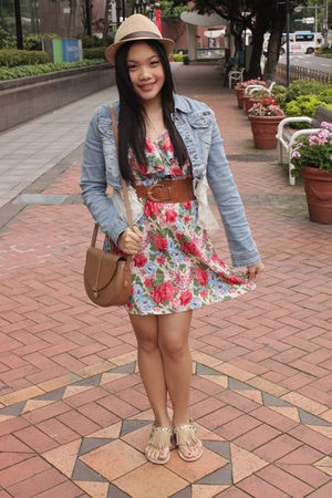 random brand dress - from singapore shoes - Thrift Store purse - from USA jacket