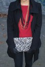 Snakeprint-h-m-purse-unknown-brand-coat-orsay-cardigan-h-m-necklace