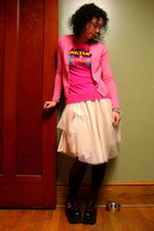 J Crew sweater - t-shirt - asos skirt - Demonia shoes