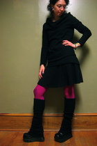 Yesstyle top - American Apparel skirt - We Love Colors tights - Demonia shoes