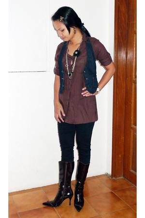 maldita blouse - MNG vest - -- pants - -- boots