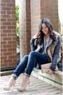 Beige-faux-fur-forever-21-vest-navy-mango-jeans