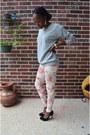 Forever-21-sweatshirt-floral-print-ralph-lauren-pants-bcbg-heels