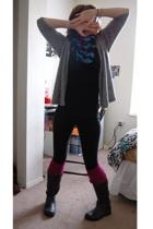 HenriGirl sweater - scarf - shirt - Xhileration leggings - American Apparel sock