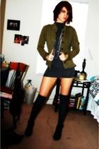 jacket - HenriGirl top - forever 21 socks - Anne Michelle shoes