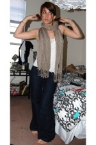 forever 21 top - scarf - vanilla star jeans