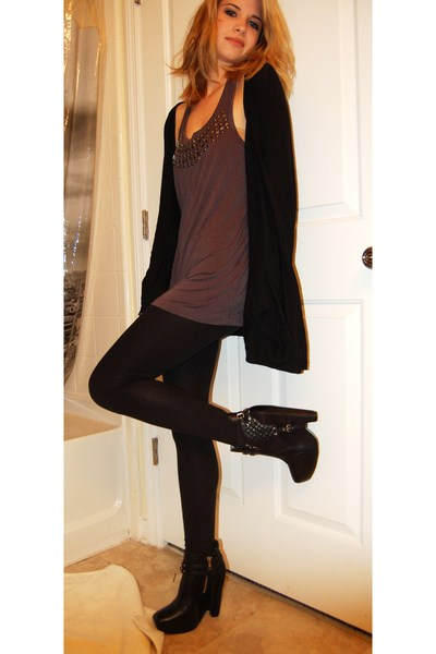 black leggings - black zoe harness sam edelman boots