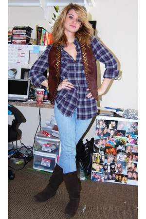 HenriGirl shirt - HenriGirl jeans - Forever21 vest - boots