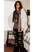 Norma Kamali for Walmart jacket - H&M top - pants - scarf - Target scarf - Henri