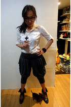 Zara blouse - bangkok pants - Schu boots - bangkok accessories