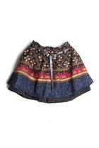 Contrast BOHO Print Winter Skort for Women