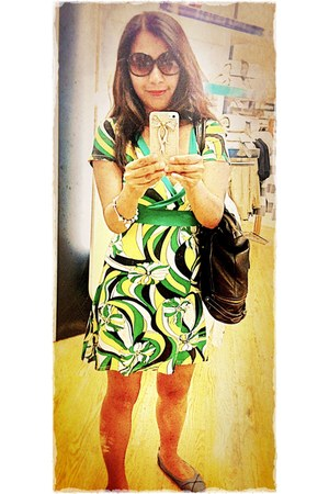 green wrap dress Jane Taylor dress